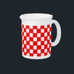 "checkered pattern (red) Pitcher<br><div class=""desc"">checkered pattern</div>"