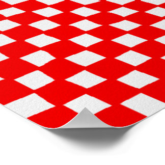 checkered pattern (red) poster