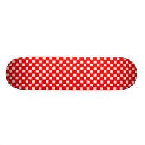 checkered pattern (red) skateboard deck