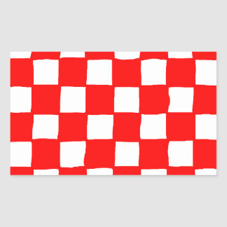 checkered pattern (red)
