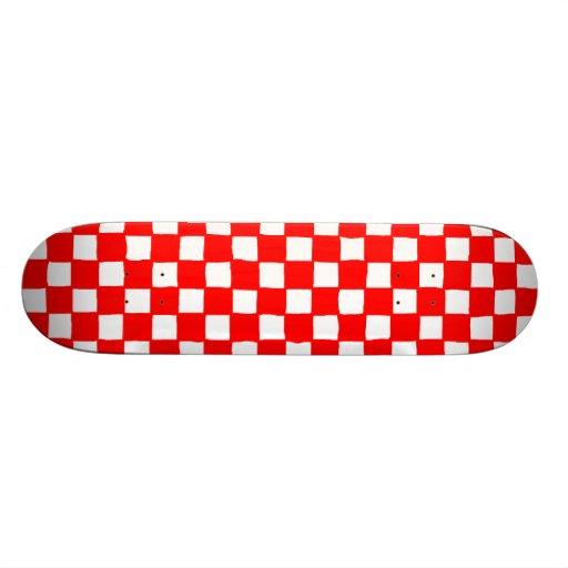 checkered pattern (red) tabla de patinar