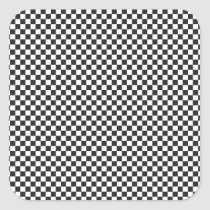 Checkered Pattern Square Sticker