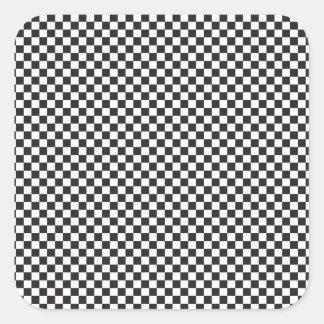 Checkered Pattern Square Sticker
