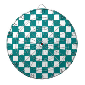 checkered pattern (teal) Dartboard