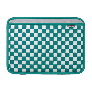 checkered pattern (teal) MacBook air sleeve