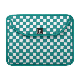 checkered pattern (teal) sleeves for MacBook pro