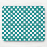 checkered pattern (teal) mousepad