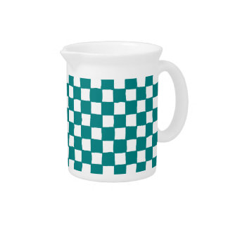 checkered pattern (teal) Pitcher