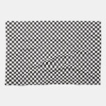 Checkered Pattern Towels