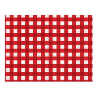 Checkered Picnic Blanket Pattern Postcard
