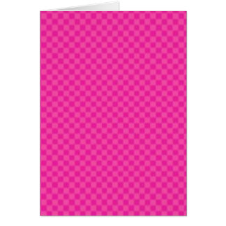 Checkered Pink Card