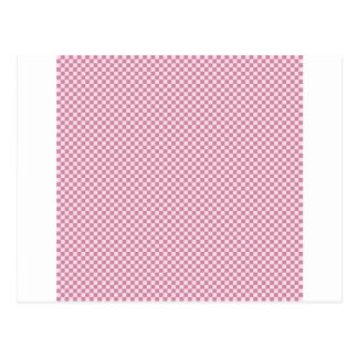 Checkered - Pink Lace and Puce Postcard