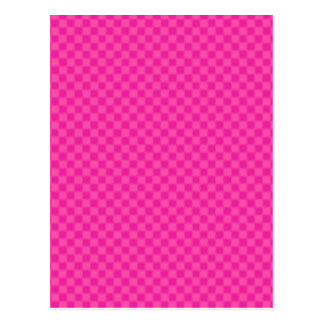 Checkered Pink Postcard