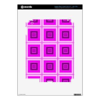 Checkered pink purple skin for iPad 3