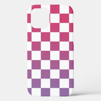 Checkered Pink to Purple Ombré Pattern Case-Mate iPhone Case
