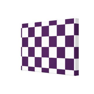 Checkered Purple and White Canvas Print