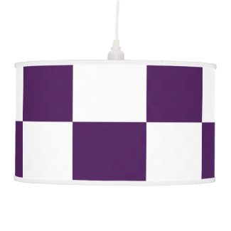 Checkered Purple and White Ceiling Lamp