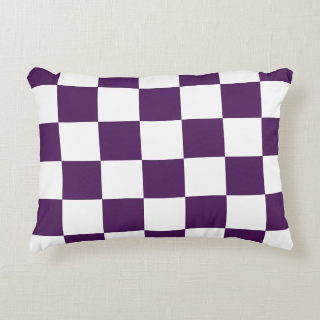 Checkered Purple and White