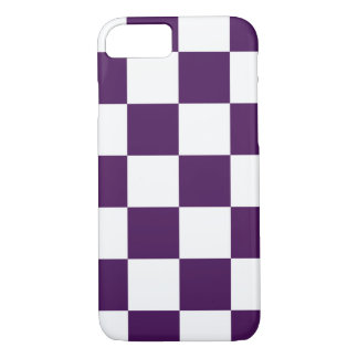 Checkered Purple and White iPhone 7 Case