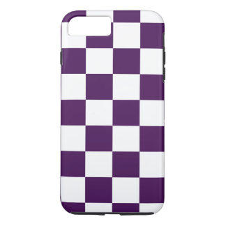 Checkered Purple and White iPhone 7 Plus Case