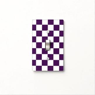 Checkered Purple and White