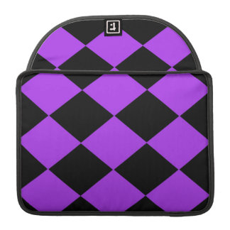 Checkered (Purple & Black) Sleeve For MacBook Pro