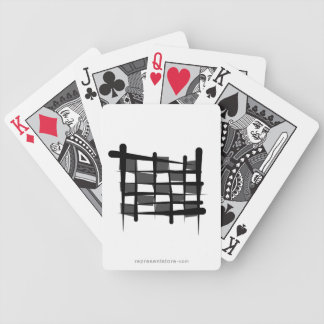 Checkered Racing Brush Flag Bicycle Playing Cards