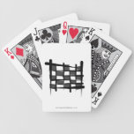 Checkered Racing Brush Flag Bicycle Poker Cards