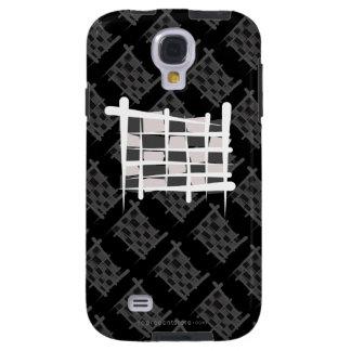 Checkered Racing Brush Flag Galaxy S4 Case