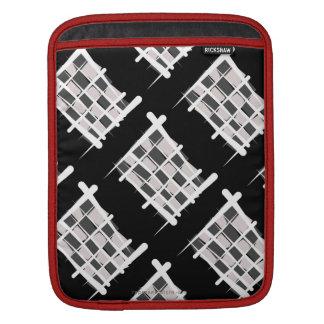 Checkered Racing Brush Flag iPad Sleeves
