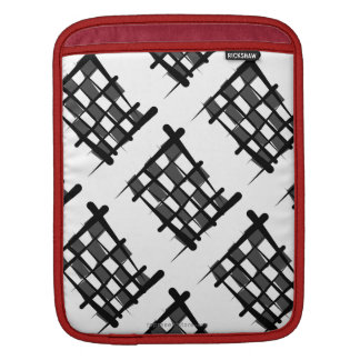 Checkered Racing Brush Flag Sleeves For iPads