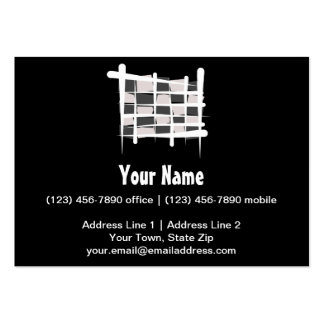 Checkered Racing Brush Flag Large Business Card