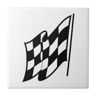 Checkered Racing Flag Ceramic Tile