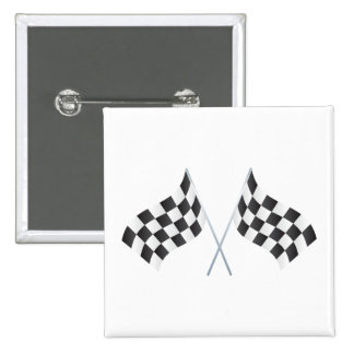 checkered racing flags graphic pinback button