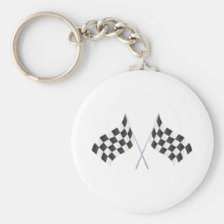 checkered racing flags graphic keychain