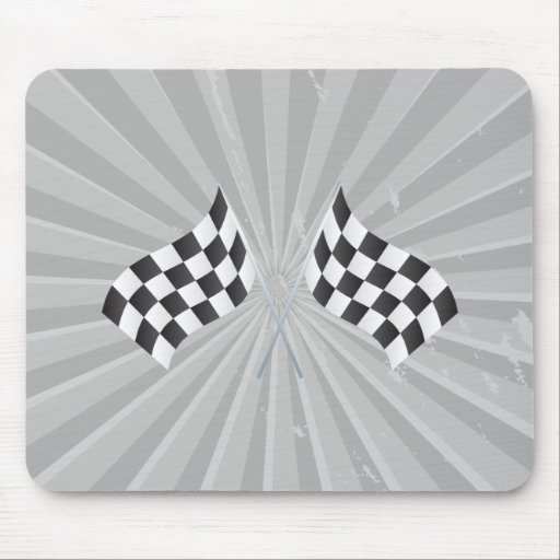 checkered racing flags graphic mouse pad