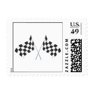 checkered racing flags graphic stamp