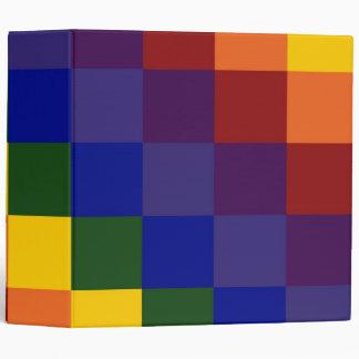 Checkered Rainbow Binder