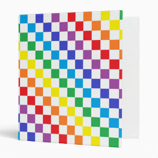 Checkered Rainbow Binder