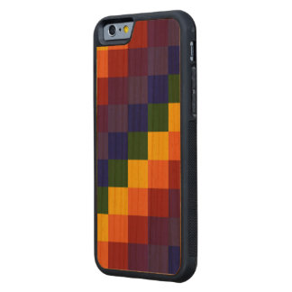Checkered Rainbow Carved® Cherry iPhone 6 Bumper