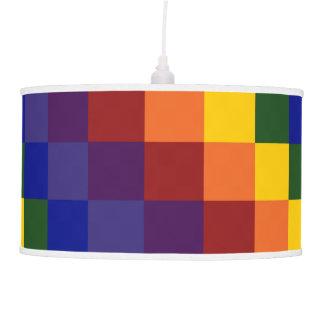 Checkered Rainbow Ceiling Lamp