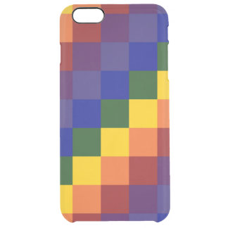 Checkered Rainbow Clear iPhone 6 Plus Case