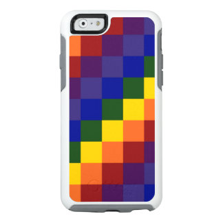 Checkered Rainbow Color Blocks OtterBox iPhone 6/6s Case