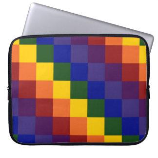 Checkered Rainbow Computer Sleeve