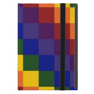 Checkered Rainbow Cover For iPad Mini