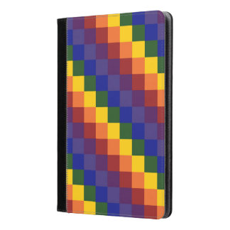 Checkered Rainbow Geometric Pattern