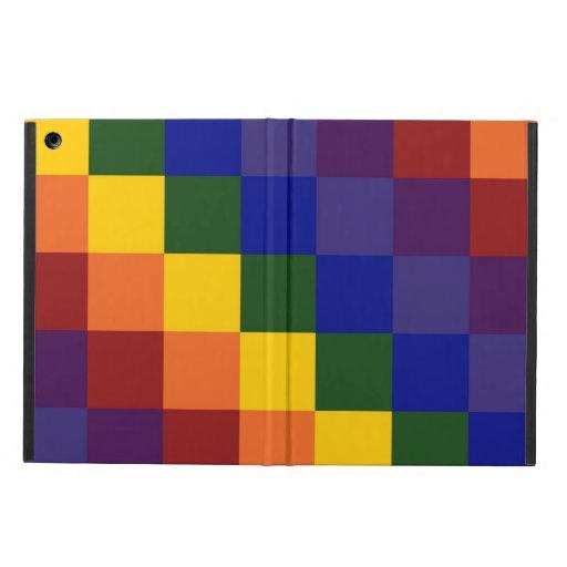 Checkered Rainbow iPad Air Covers