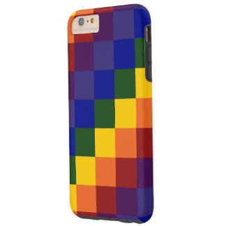 Checkered Rainbow iPhone 6 Plus Tough Case