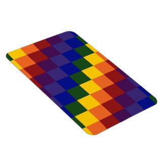 Checkered Rainbow Magnet