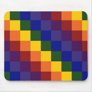 Checkered Rainbow Mousepads